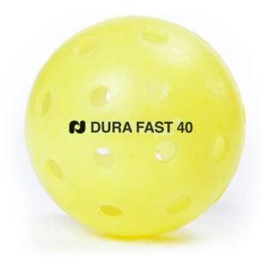 Dura Fast 40 yellow pickleball