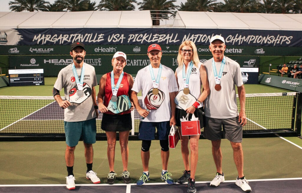 2019 Mixed Doubles Gold Medal Winners in Margaritaville Pickleball National Championships