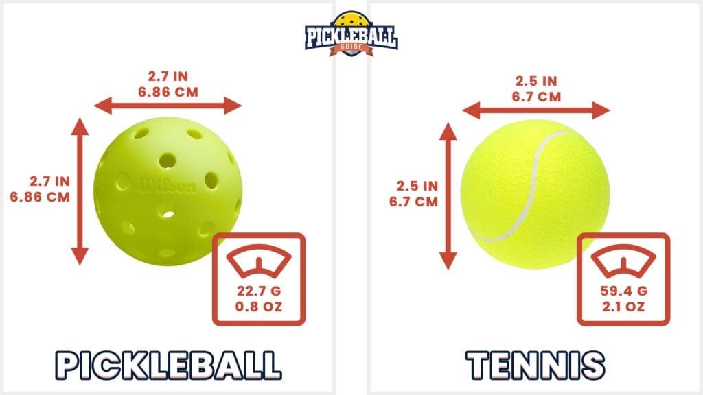 pickleball vs tennis - balls