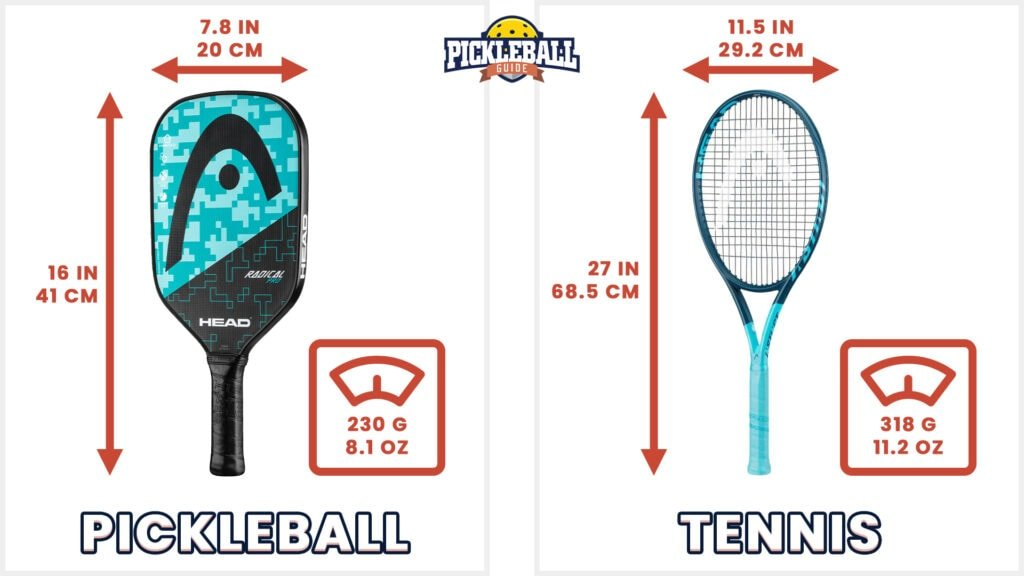 pickleball vs tennis - paddles and rackets